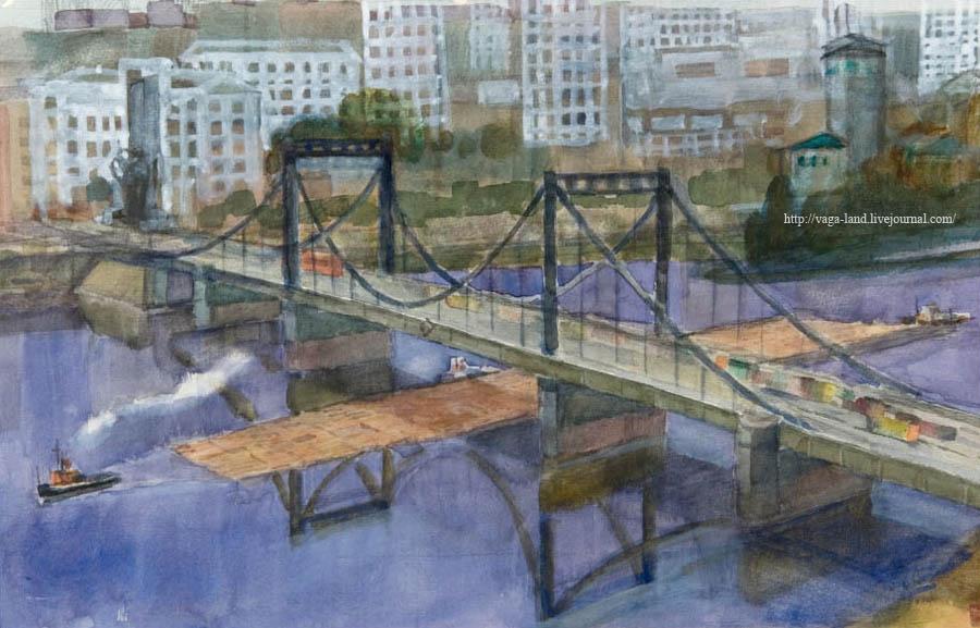 Вас Вежливцев Мост через кузн 1980е АОМИИ 900 вз