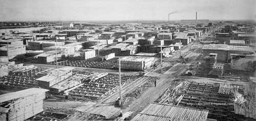 Цигломень. Биржа лесозавода 6 (1926 ) вз 500