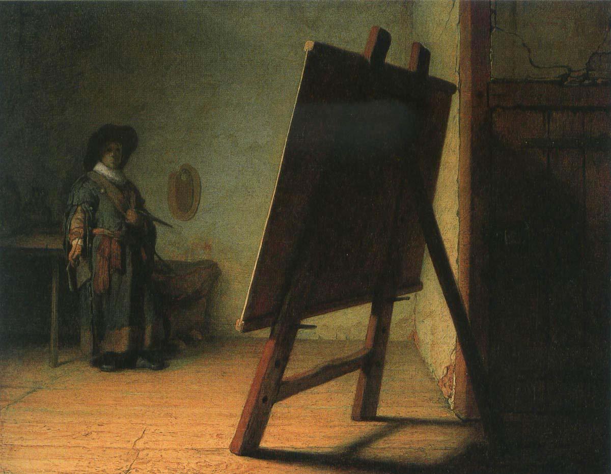 Рембрандт Художник в мастерской 1629 1200