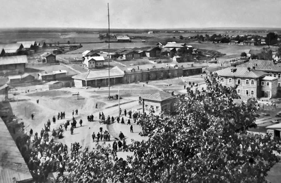 1915 год Вид с колокол на Спасскую площ 900