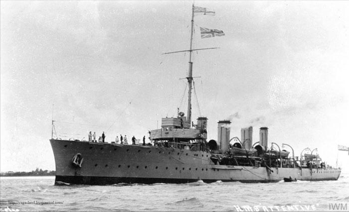Scout cruiser HMS Attentive 700 вз
