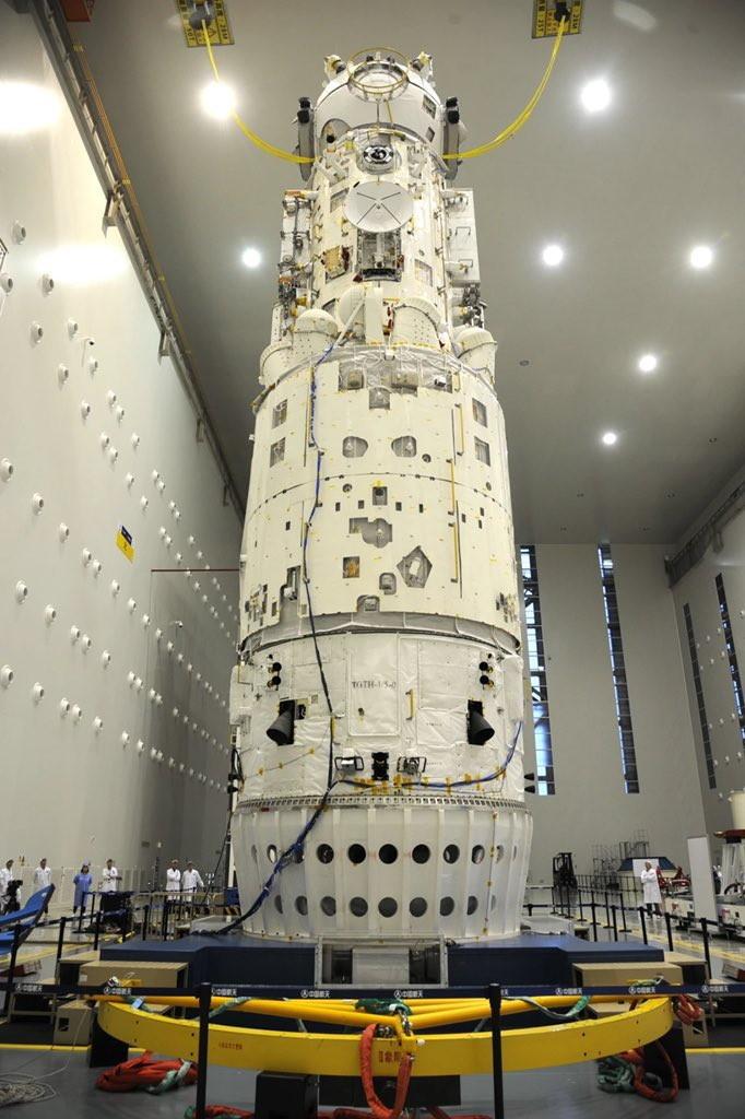 Фотографии базового модуля китайской космической станции