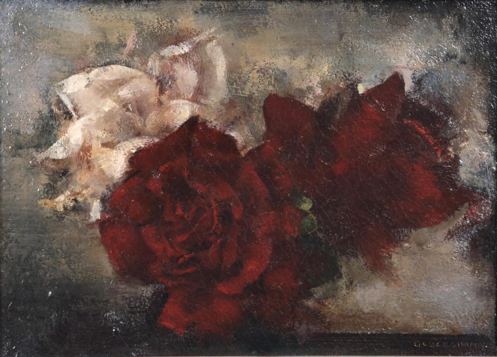 Натюрморт с розами. 21 х 28.8 см