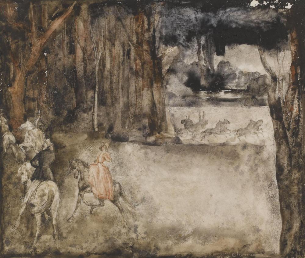 Иллюстрация 5. 1928. 22.8 х 19.8 см. акварель