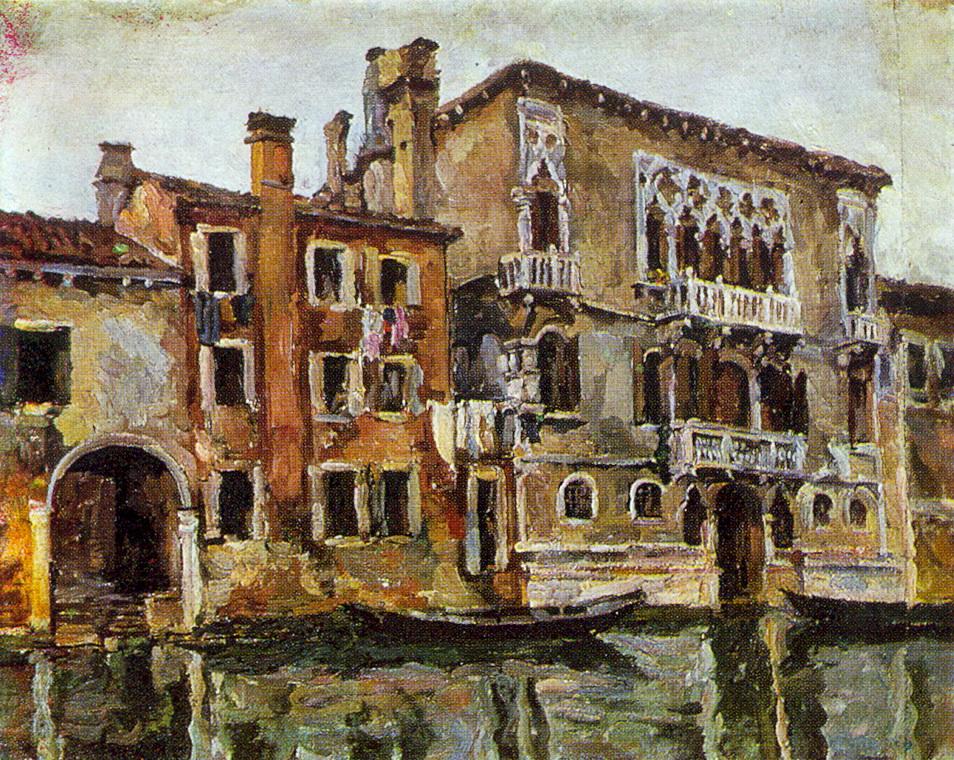 1924 Венеция. Дом Тинторетто.70,5 X 85,5 КМРИ