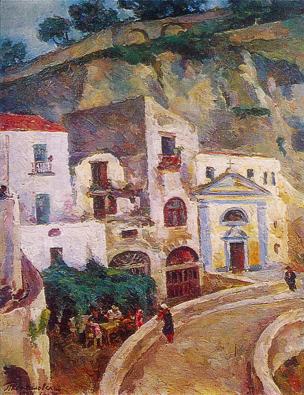 1924 Сорренто.Могила Сильвестра Щедрина. 89х71 ГРМ
