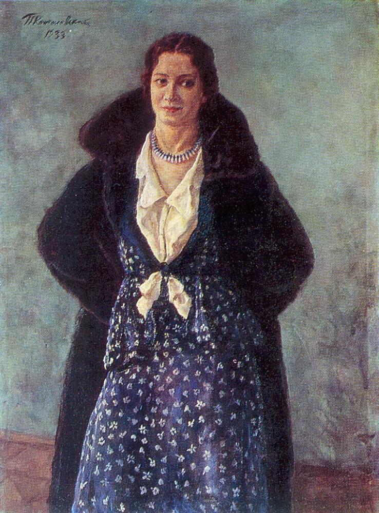1933 Портрет артистки Ангелины Осиповны Степановой. 136х153 Новосибирск