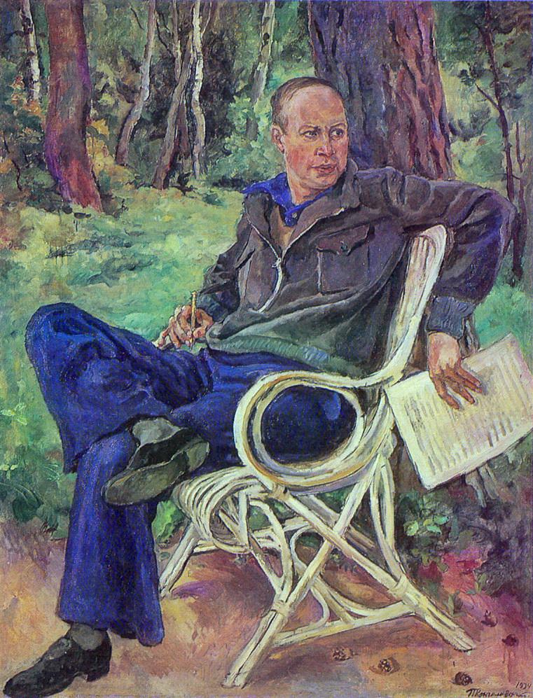 1934 Портрет композитора Сергея Сергеевича Прокофьева. 181х140,5 ГТГ