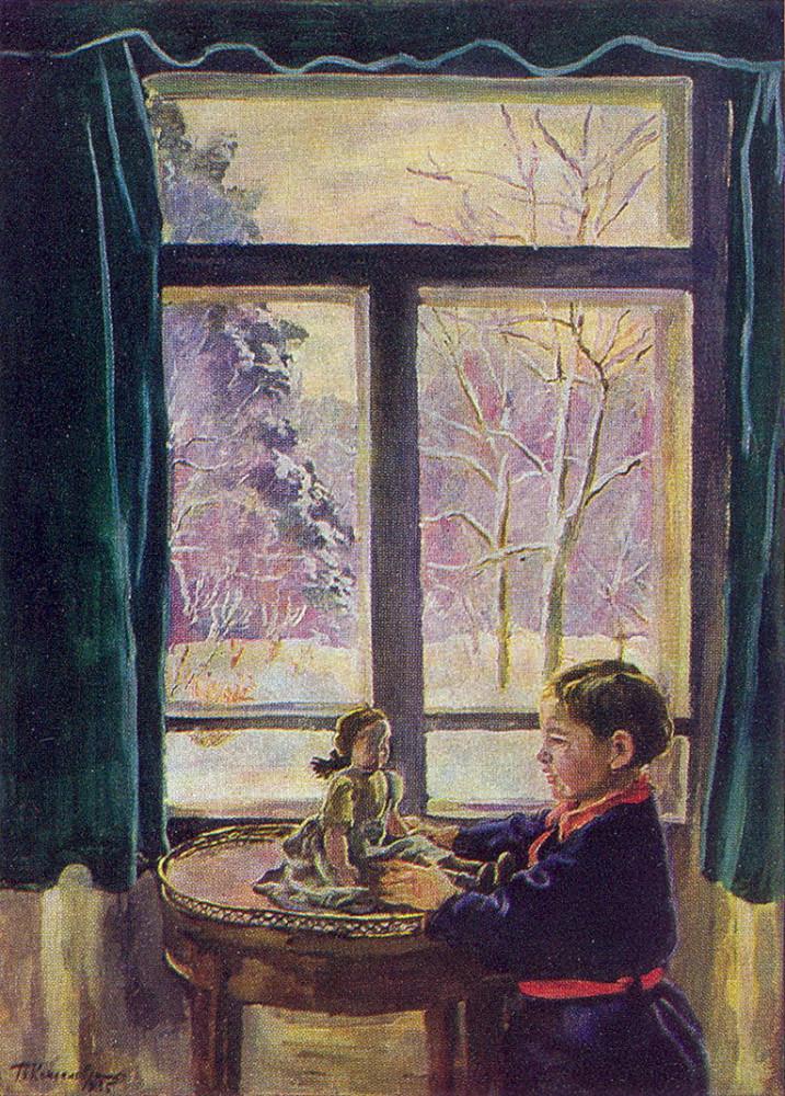 1935 Катенька у окна. 144,5х105 ГТГ
