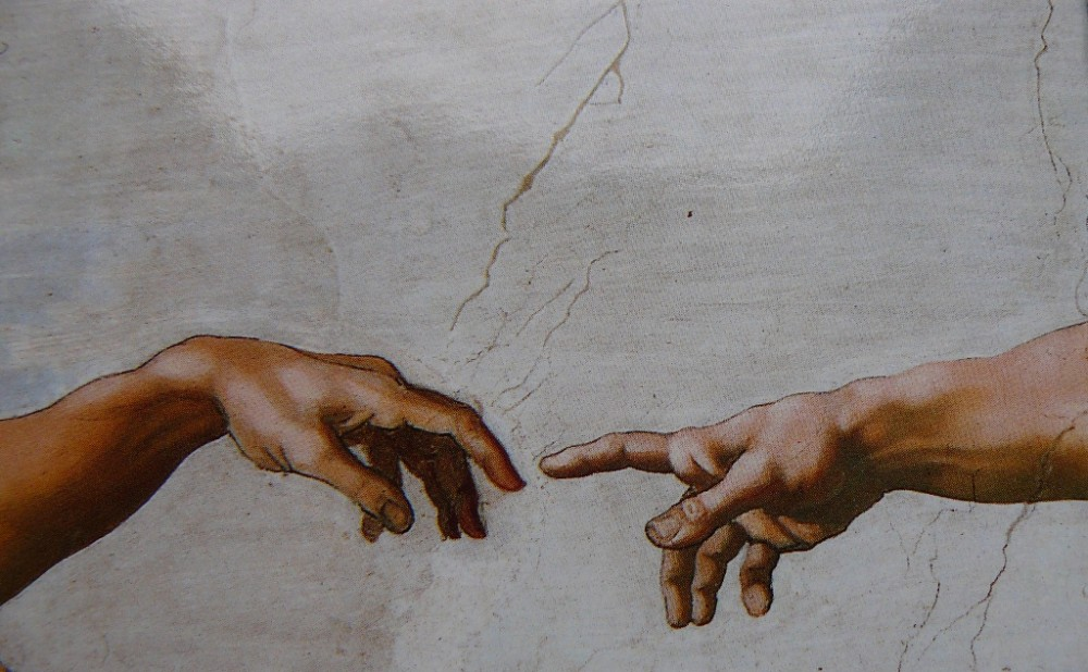 Картинка рука бога и адама