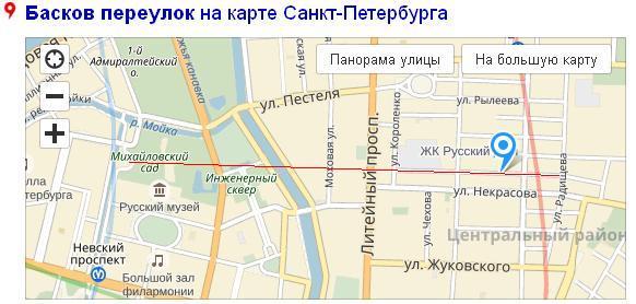Басков пер карта