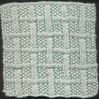 Square 4: Lattice with Seed Stitch