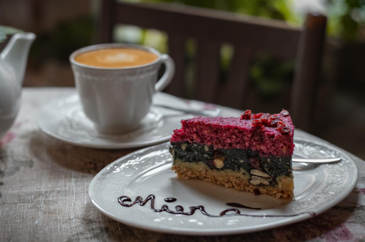 рига, латвия, кафе, mierā, кофе, капучино, торт