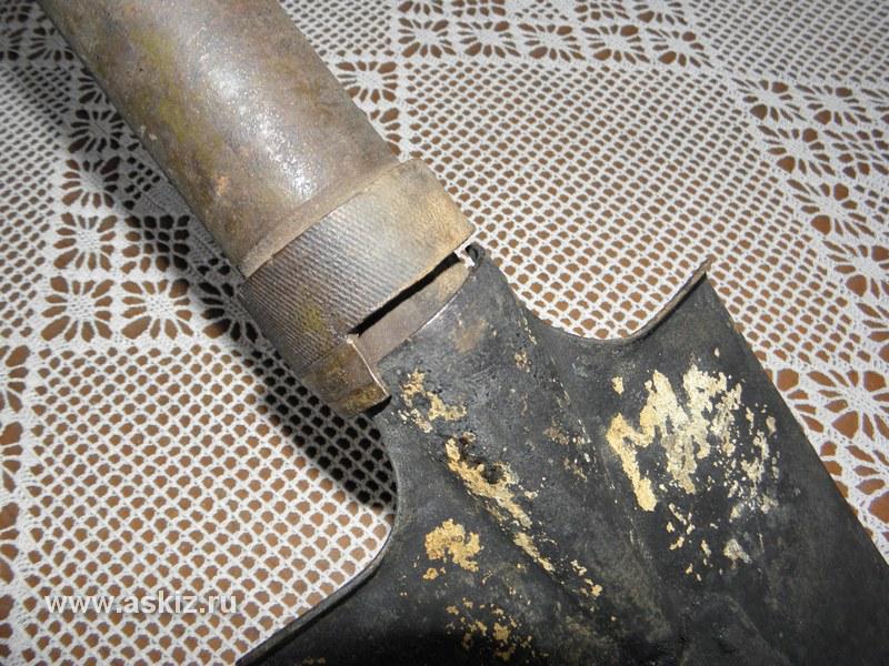 Фиксация миномета-лопаты в походное(лопатовое) состояние