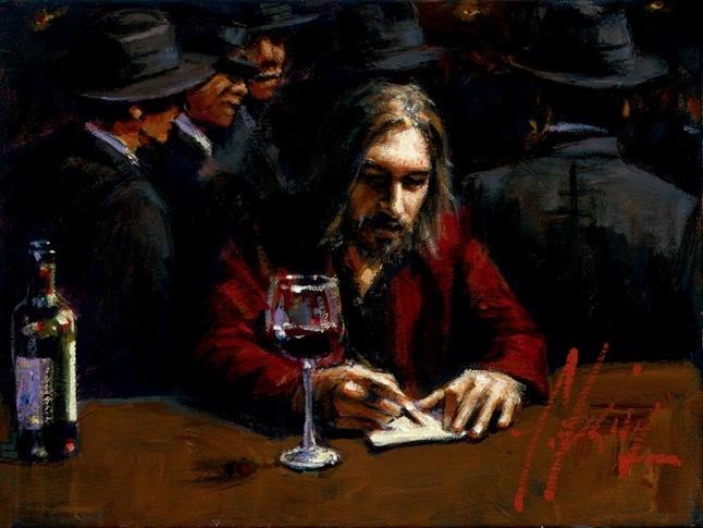 Fabian Perez 1967 - Argentine Figurative painter - Male Painting - Tutt'Art@ (8)