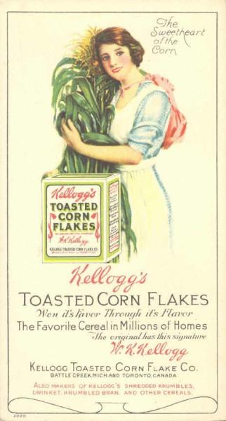 1BlotterKelloggsCornFlakesAdvertizement1910s