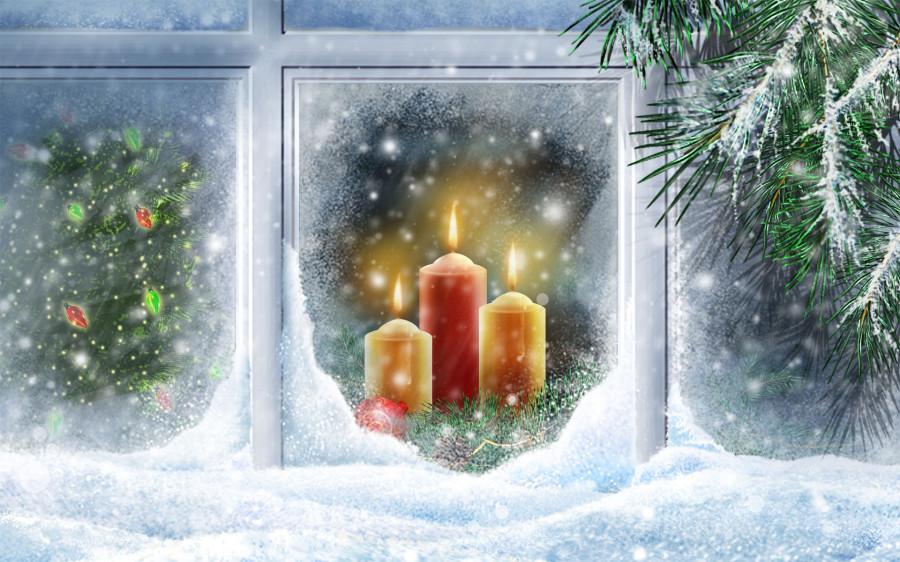 Сапоги новый год окно Boots new year window  № 2639511 без смс