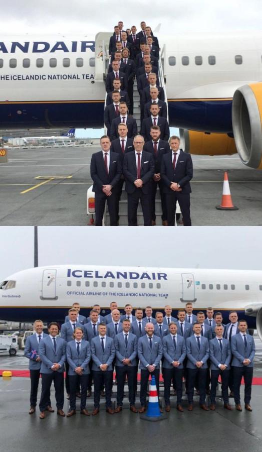 Исландская футбольная сборная весело стебется на собой