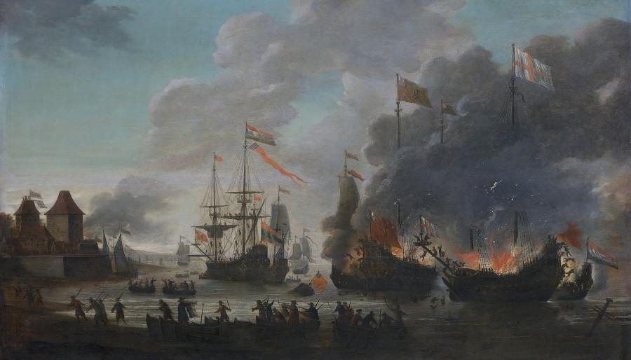 Как голландцы устроили показательную порку англичанам