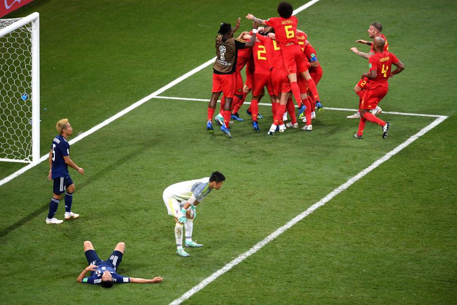 Самый невероятный камбек чемпионата мира. Бельгия – Япония 3:2