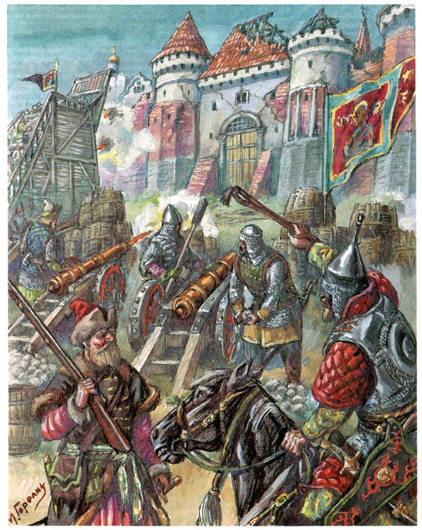 Начало борьбы Русского государства с поляками и литвой за Смоленск