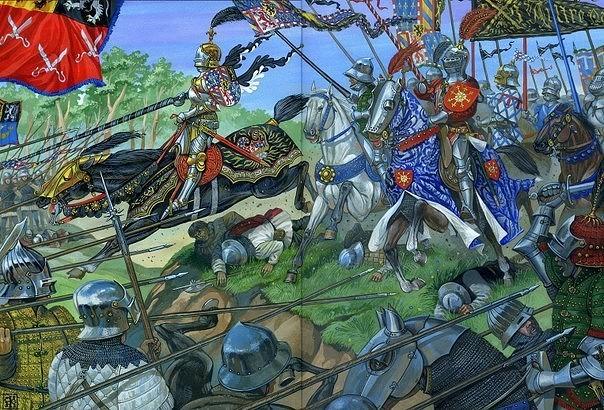 Сложные отношения армии герцога Бургундского и ополчения города Гента