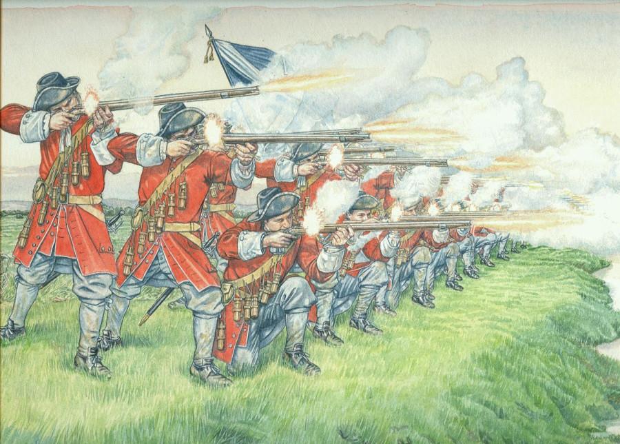 Сыны любимые Победы, сквозь огонь окопов рвутся шведы…
