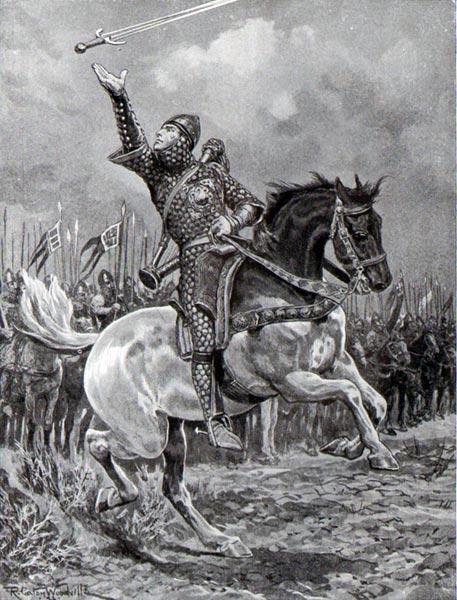 Легенда о менестреле Вильгельма Завоевателя и его славной песне при Гастингсе