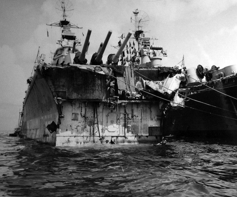 Как американцы собирали крейсер «Питтсбург» после тайфуна по Тихому океану