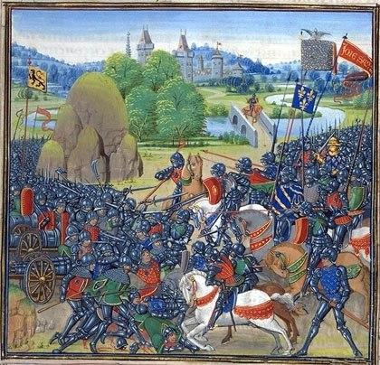 Как французские рыцари показали место горожанам Гента