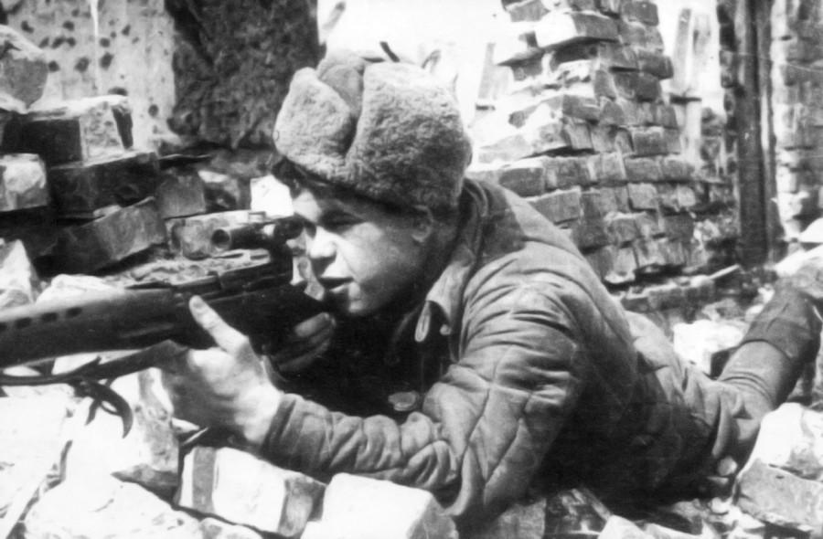 Снайпер Коля со Сталинградского фронта