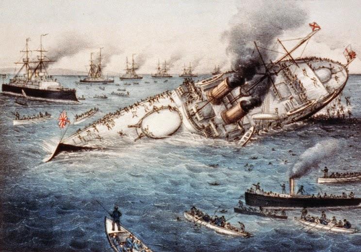 Как англичане свой флагман протаранили
