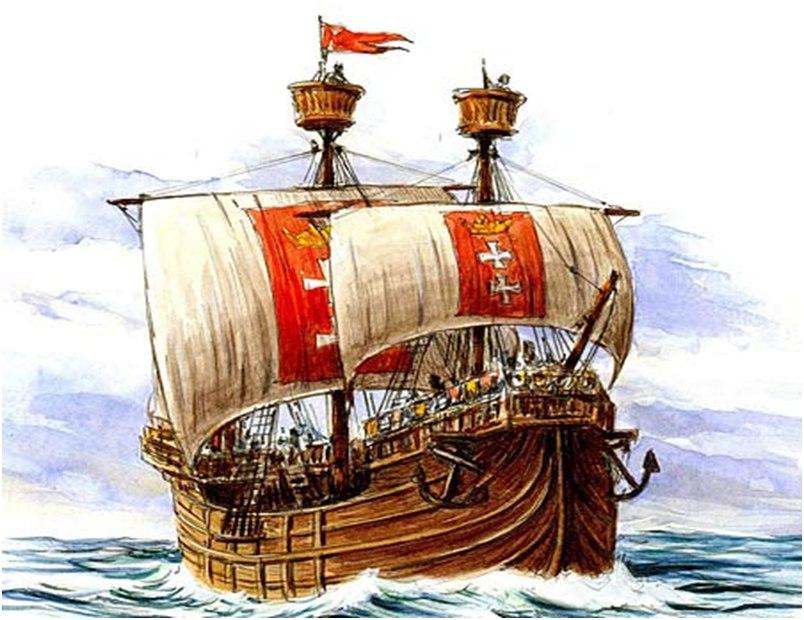 Новгородские ладьи против немецких коггов
