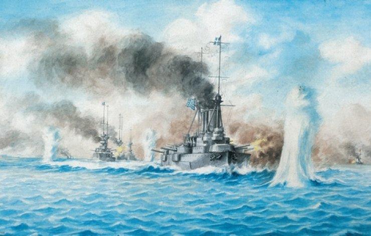 Разборка турецкого и греческого флотов около острова Лемнос