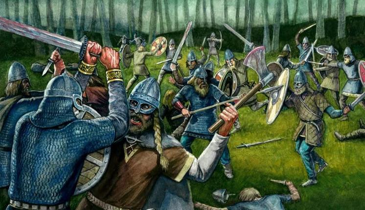 Саксонская Англия против викингов. Битва при Брюнанбурге