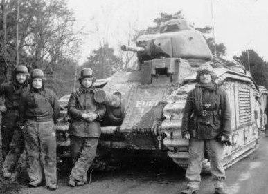 Французские танкисты, не удиравшие от немцев. Бой за деревню Стони