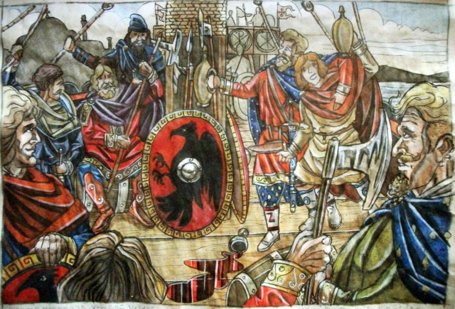 Суровый Харальд Хардрада и его «Висы радости» Харальд, князя, дочери, киевского, вполне, Норвегии, императора, одной, потом, может, захватить, любовь, норвежец, варяжских, вернулся, сыновья, конечно, Данией, сыновей, получилось
