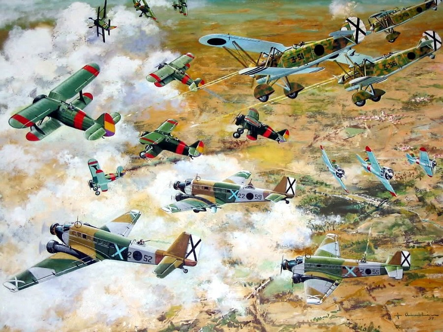 Про советских летчиков в небе Испании
