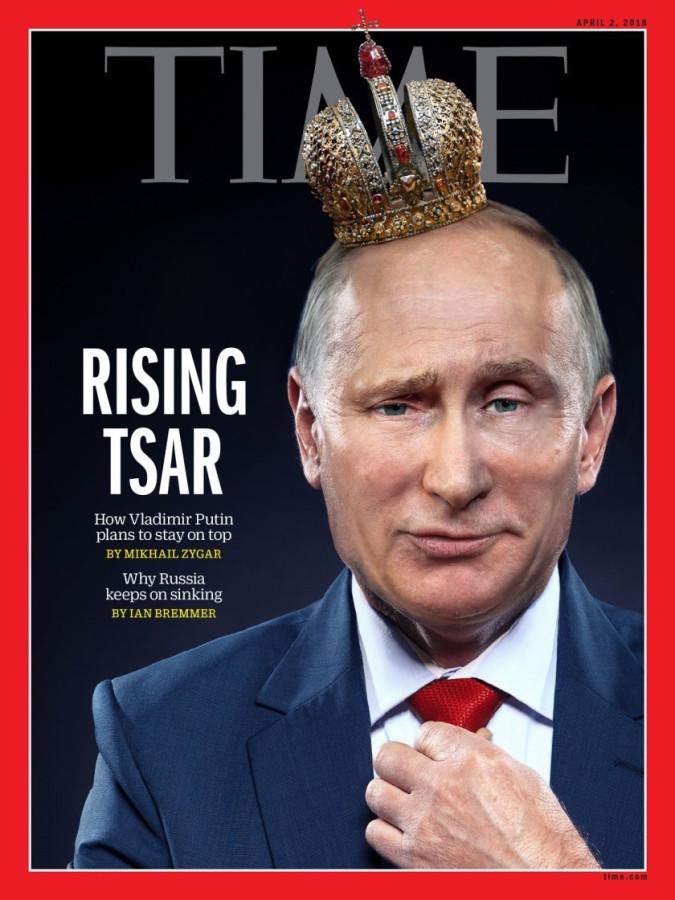 «Восходящий царь». Гарант в короне на обложке Time
