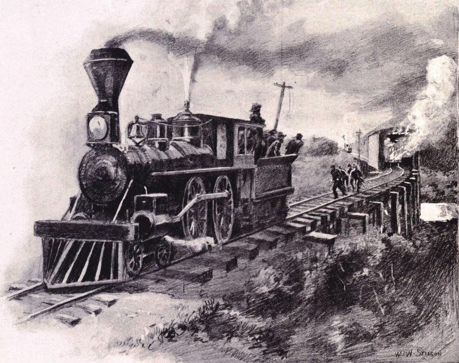 Настоящая паровозная гонка