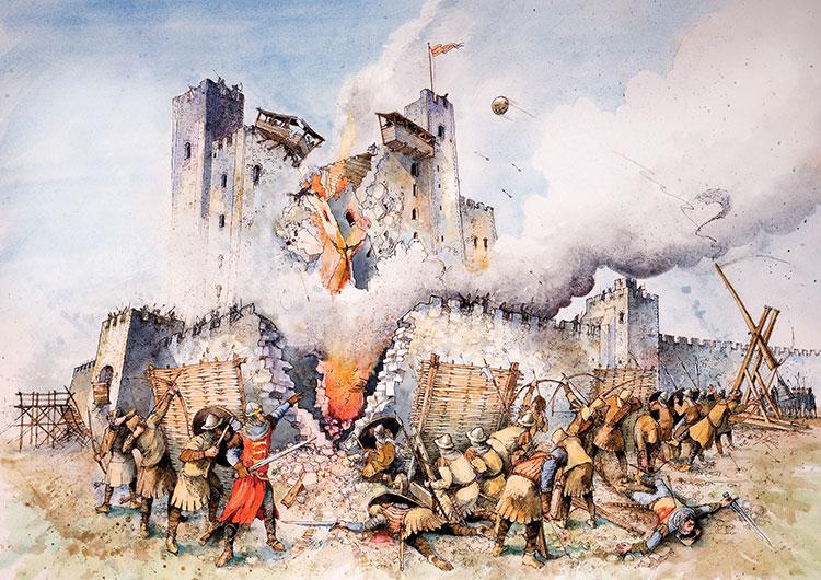 Как с помощью 40 свиней штурмовали замок