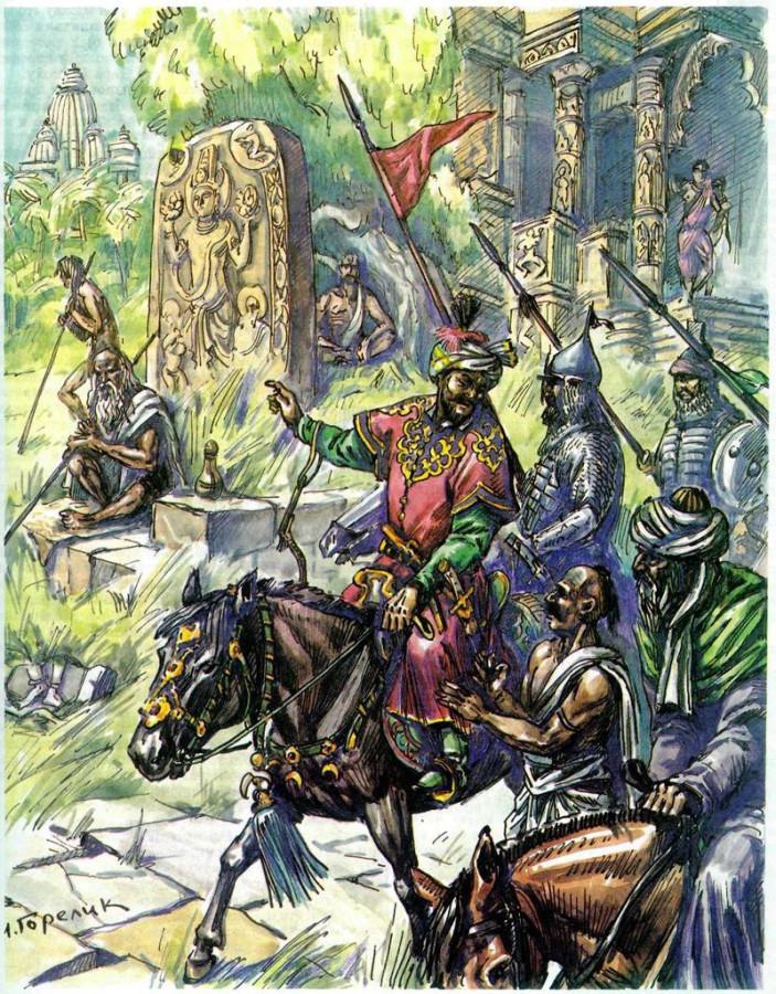 Пушки Бабура против слонов делийского султана