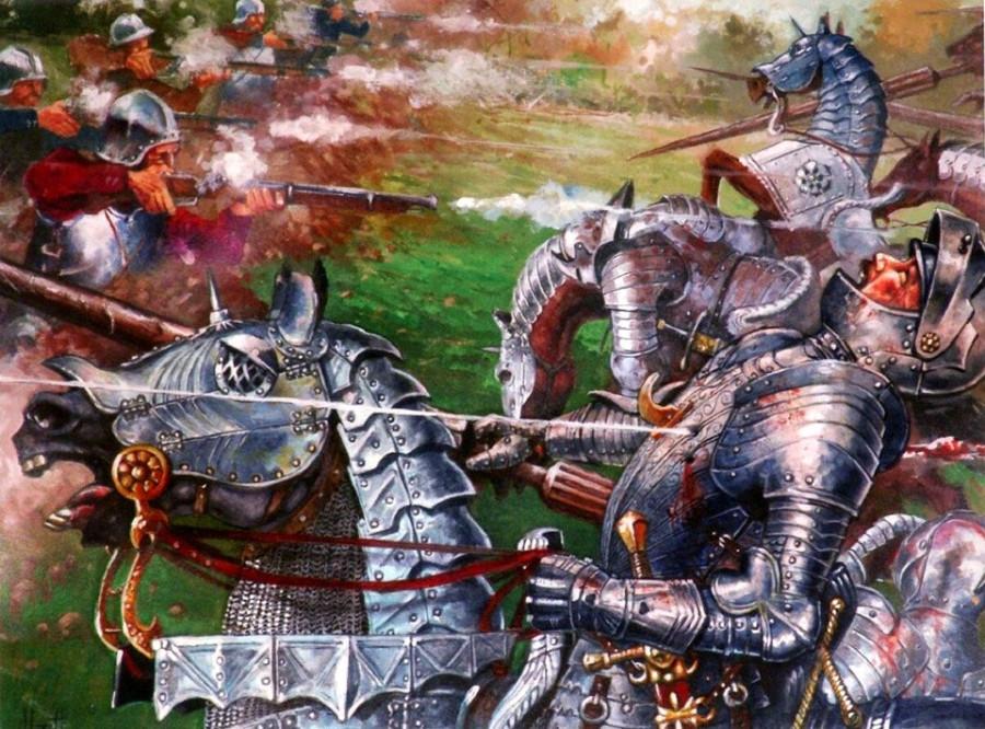 Испанцы и аркебузы против швейцарской пехоты и французских жандармов