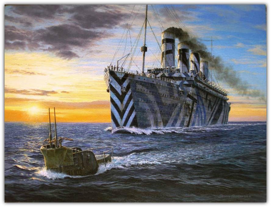 Месть круизного лайнера немецким подводникам