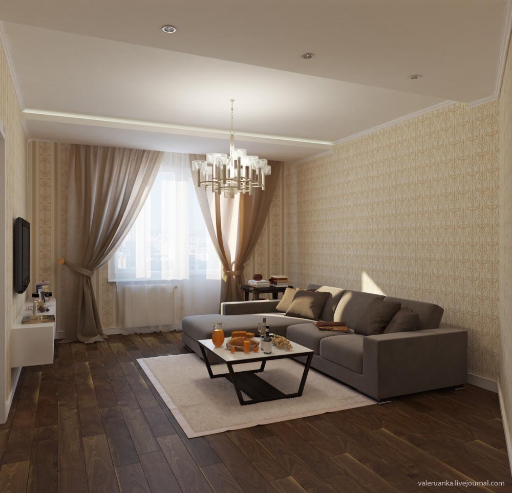 Дизайн Гостиной С Коричневой Мебелью
