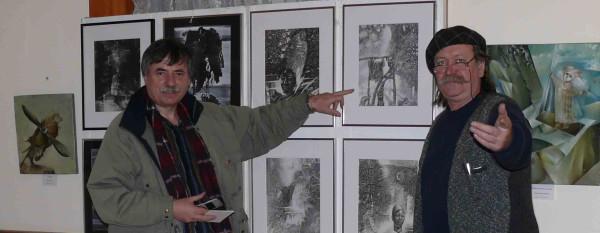 2008г. Галерея на 401, Атлантик-авеню, Нью-Йорк.  Януш Сковрон и Александр Григорьев