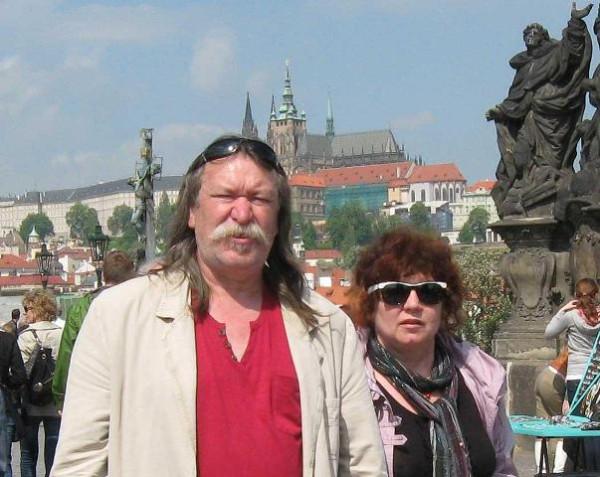 _С любимой на Карловом мосту в Праге