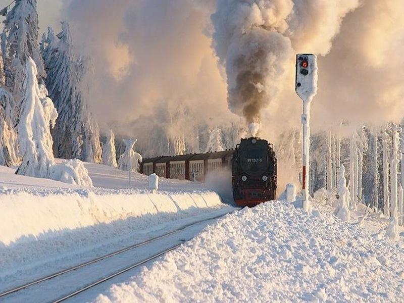 зима паровоз tiina