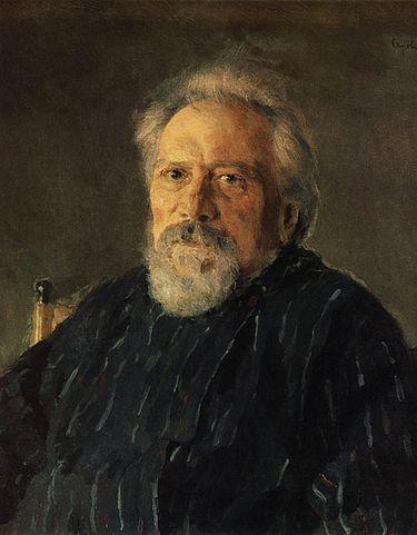 Н.С.Лесков. Портрет работы Валентина Серова. 1894.