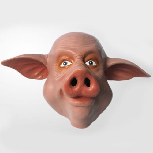 Голова человека-свиньи - Hot-selling-latex-adult-size-full-head-cute-font-b-pig-b-font-animal-halloween-mask